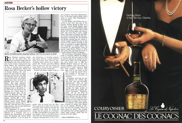 Article Preview: Rosa Becker's hollow victory, November 1986 | Maclean's