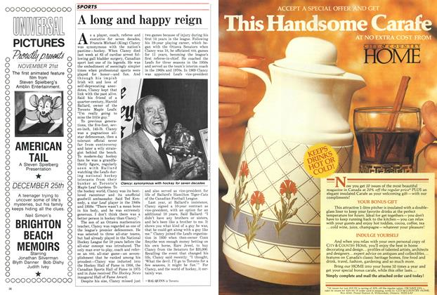 Article Preview: A long and happy reign, November 1986   Maclean's