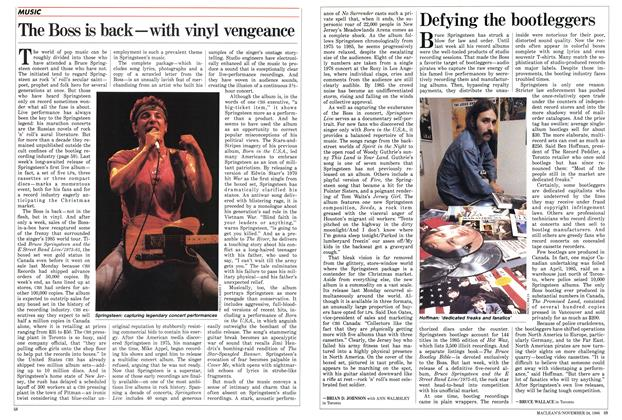 Article Preview: The Boss is back—with vinyl vengeance, November 1986 | Maclean's