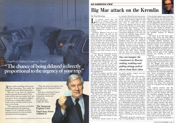 Article Preview: Big Mac attack on the Kremlin, December 1986 | Maclean's