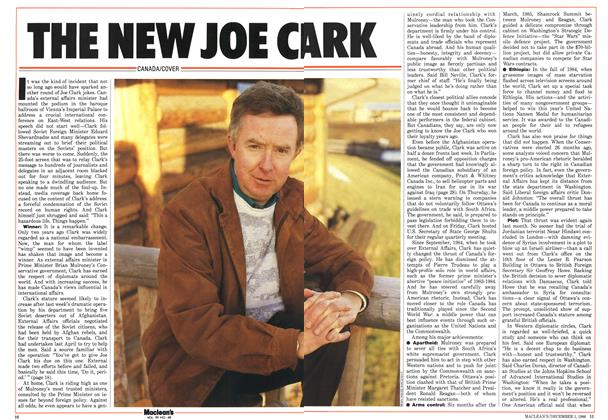Article Preview: THE NEW JOE CLARK, December 1986 | Maclean's