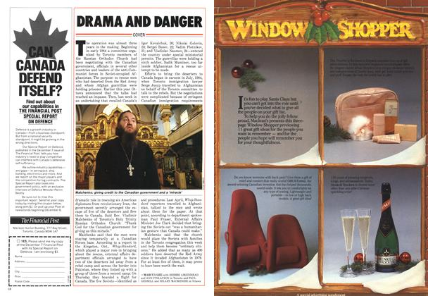 Article Preview: DRAMA AND DANGER, December 1986 | Maclean's
