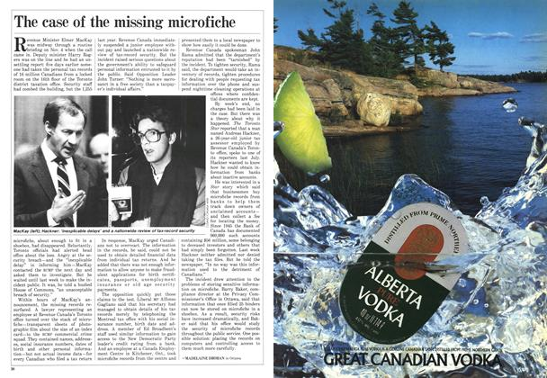 Article Preview: The case of the missing microfiche, December 1986 | Maclean's