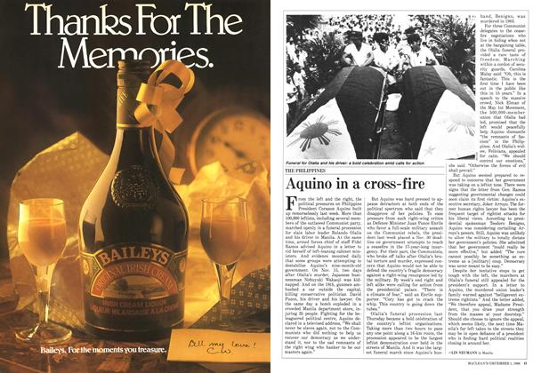 Article Preview: Aquino in a cross-fire, December 1986 | Maclean's