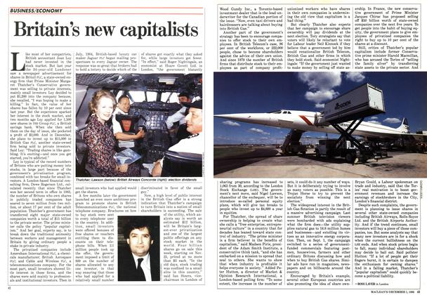 Article Preview: Britain's new capitalists, December 1986 | Maclean's