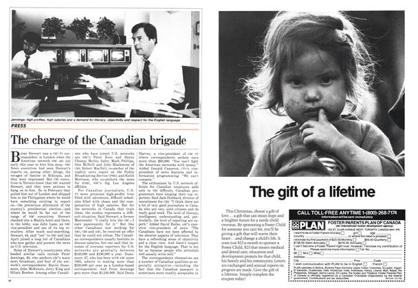 Article Preview: The charge of the Canadian brigade, December 1986 | Maclean's