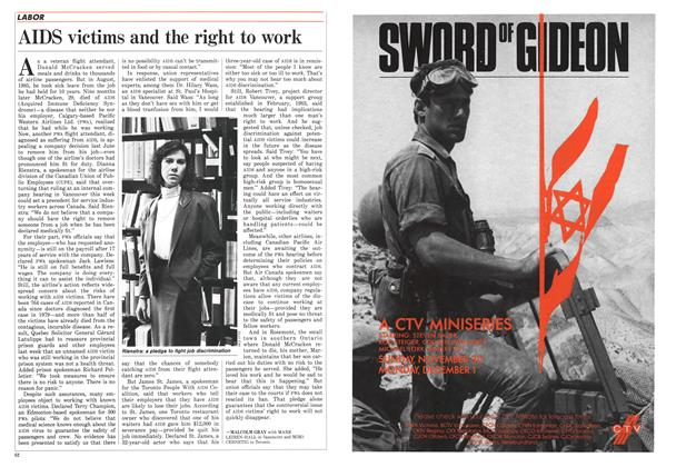 Article Preview: AIDS victims and the right to work, December 1986 | Maclean's