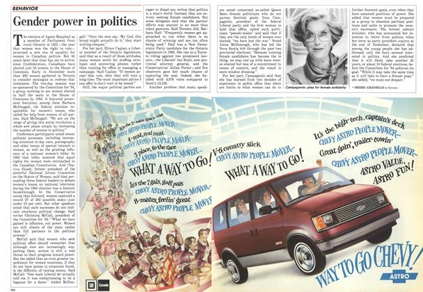 Article Preview: Gender power in politics, December 1986 | Maclean's