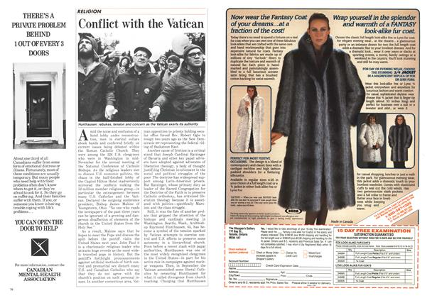 Article Preview: Conflict with the Vatican, December 1986 | Maclean's
