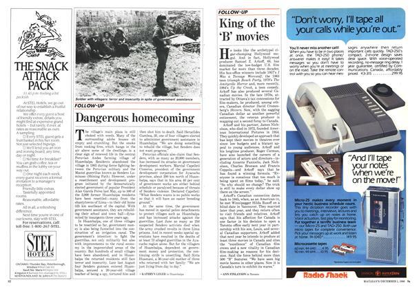 Article Preview: Dangerous homecoming, December 1986   Maclean's