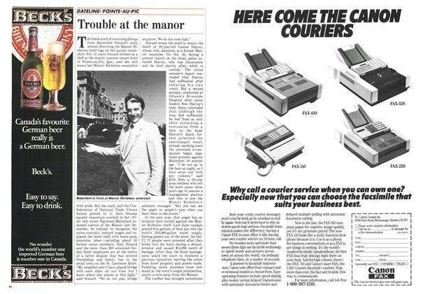 Article Preview: Trouble at the manor, December 1986 | Maclean's