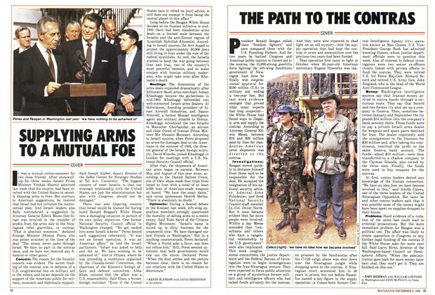 Article Preview: SUPPLYING ARMS TO A MUTUAL FOE, December 1986 | Maclean's
