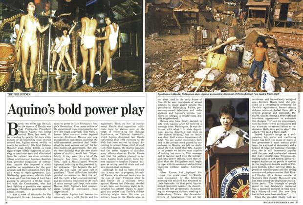 Article Preview: Aquino's bold power play, December 1986 | Maclean's