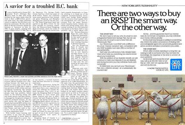 Article Preview: A savior for a troubled B.C. bank, December 1986 | Maclean's