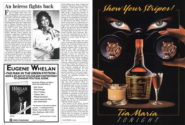 Article Preview: An heiress fights back, December 1986 | Maclean's
