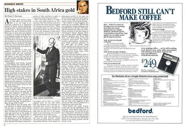 Article Preview: High stakes in South Africa gold, December 1986 | Maclean's