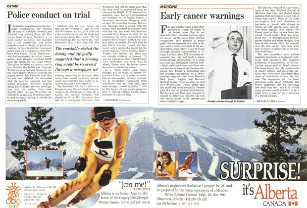 Article Preview: Early cancer warnings, December 1986 | Maclean's