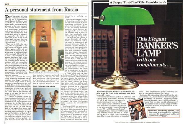 Article Preview: A personal statement from Russia, December 1986 | Maclean's