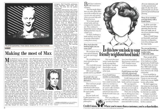 Article Preview: Making the most of Max, December 1986 | Maclean's