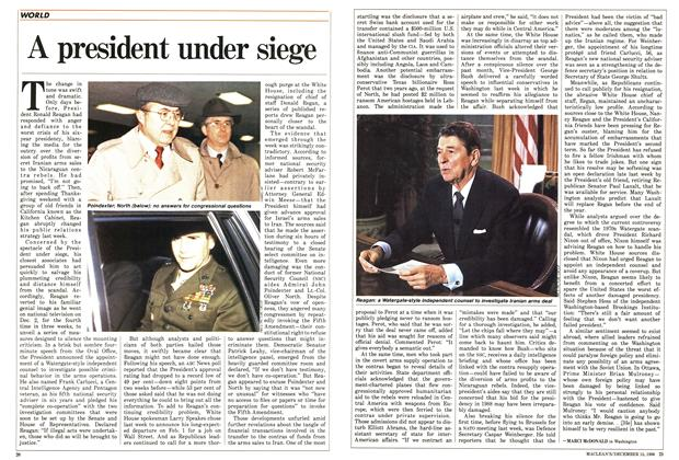 Article Preview: A president under siege, December 1986 | Maclean's