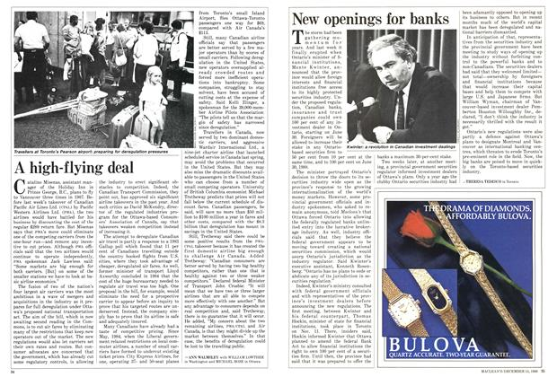 Article Preview: New openings for banks, December 1986 | Maclean's