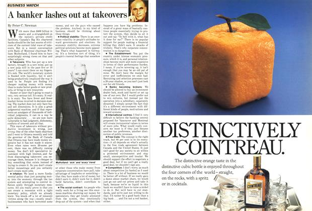Article Preview: A banker lashes out at takeovers, December 1986 | Maclean's