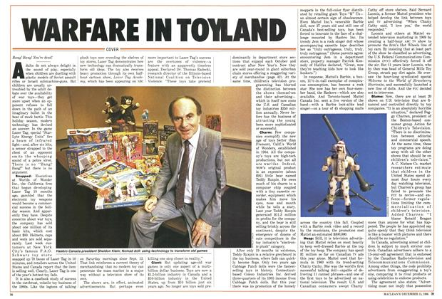 Article Preview: WARFARE IN TOYLAND, December 1986 | Maclean's
