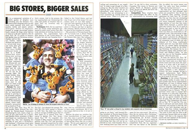 Article Preview: BIG STORES, BIGGER SAIES, December 1986 | Maclean's