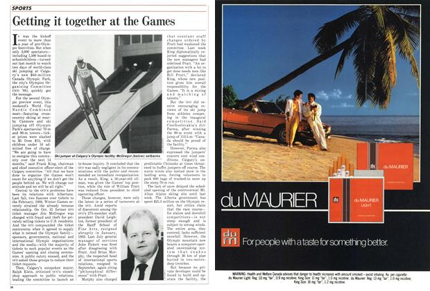 Article Preview: Getting it together at the Games, December 1986 | Maclean's