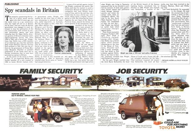 Article Preview: Spy scandals in Britain, December 1986 | Maclean's