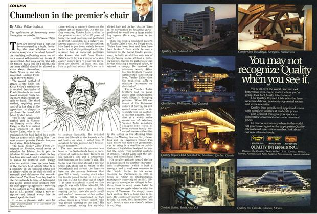 Article Preview: Chameleon in the premier's chair, December 1986 | Maclean's
