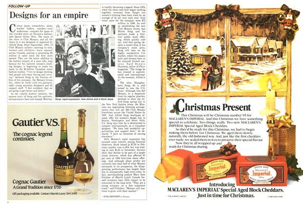 Article Preview: Designs for an empire, December 1986 | Maclean's