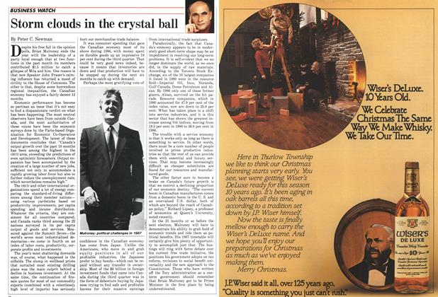 Article Preview: Storm clouds in the crystal ball, December 1986 | Maclean's