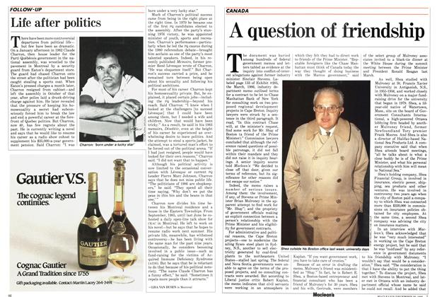 Article Preview: A question of friendship, December 1986 | Maclean's