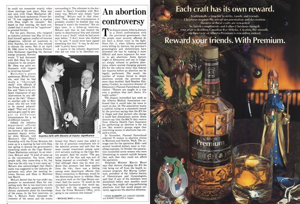 Article Preview: An abortion controversy, December 1986 | Maclean's