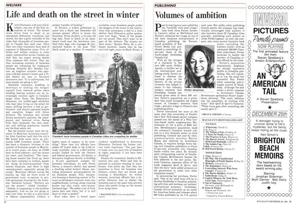 Article Preview: Life and death on the street in winter, December 1986 | Maclean's