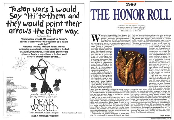 Article Preview: 1986 THE HONOR ROLL, December 1986 | Maclean's