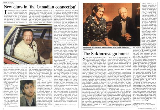 Article Preview: The Sakharovs go home, December 1986 | Maclean's
