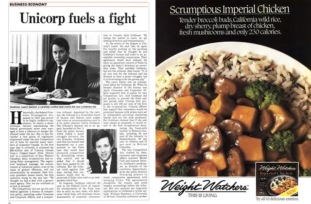 Article Preview: Unicorp fuels a fight, January 1987 | Maclean's