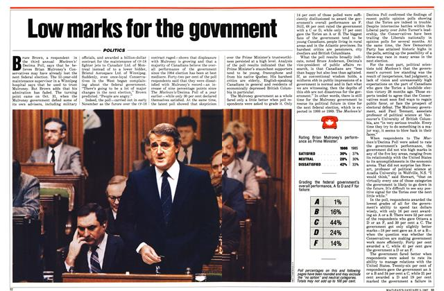 Article Preview: Low marks for the government, January 1987 | Maclean's