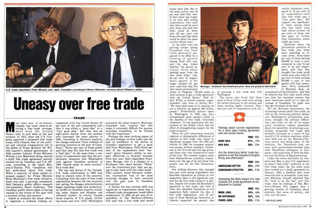Article Preview: Uneasy over free trade, January 1987 | Maclean's