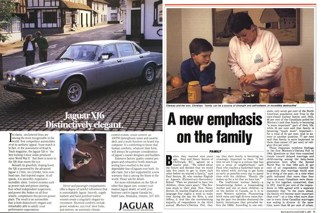Article Preview: A new emphasis on the family, January 1987 | Maclean's