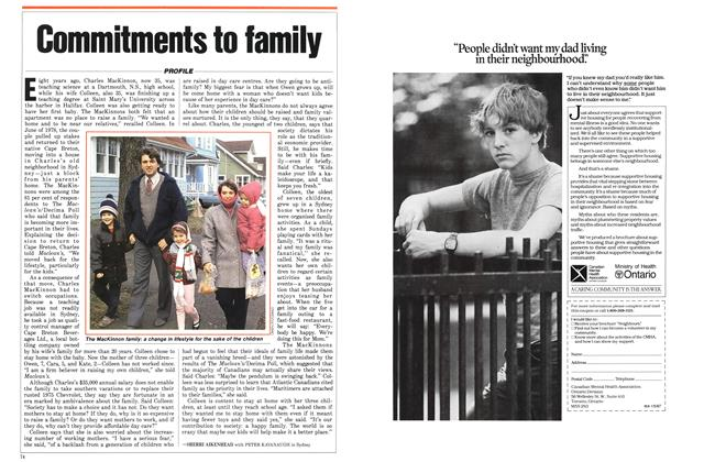 Article Preview: Commitments to family, January 1987 | Maclean's