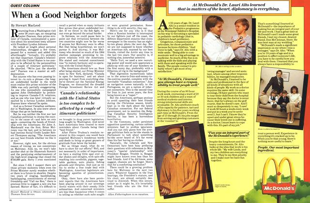 Article Preview: When a Good Neighbor forgets, January 1987 | Maclean's