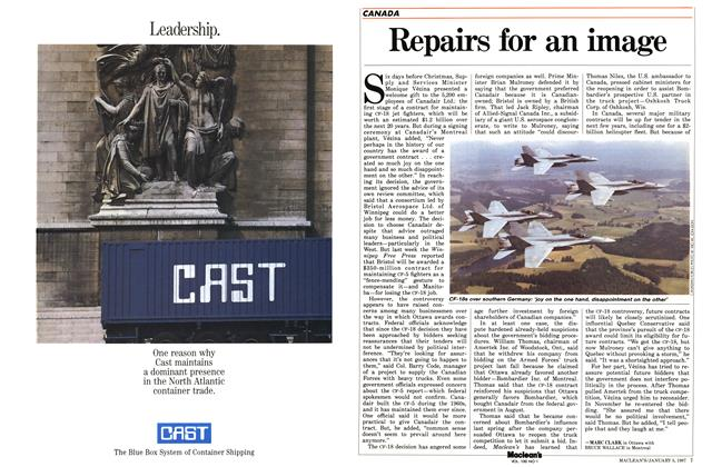 Article Preview: Repairs for an image, January 1987 | Maclean's