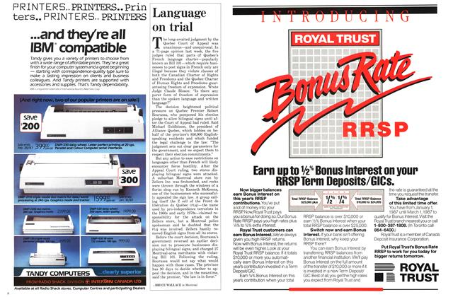 Article Preview: Language on trial, January 1987 | Maclean's
