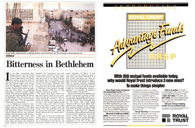 Article Preview: Bitterness in Bethlehem, January 1987 | Maclean's
