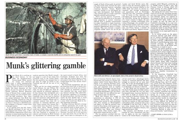 Article Preview: Munk's glittering gamble, January 1987 | Maclean's