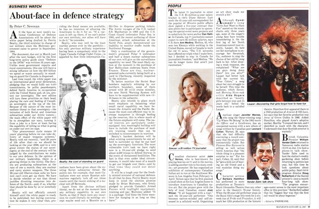 Article Preview: About-face in defence strategy, January 1987 | Maclean's