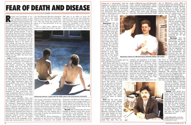 Article Preview: FEAR Of DEATH AND DISEASE, January 1987 | Maclean's